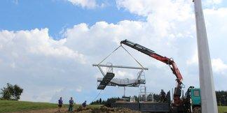 Výstavba sedačkovej lanovky v Krušetnici