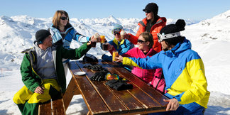 Val thorens à l'heure de l'après-ski
