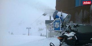 Schnee in der Eifel und im Sauerland, Schneekanonen in Österreich laufen