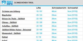 Webmaster aufgepasst: Kostenlose Skiinfo-Schneehöhen-Daten für eure Website