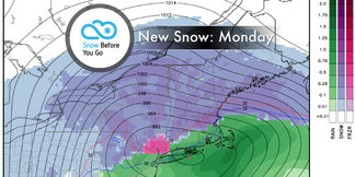 Snow Before You Go: Sunday Storm Bringing Another Round of Fresh - ©Meteorologist Chris Tomer