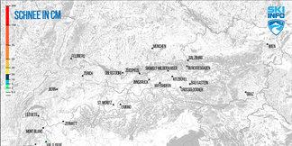 Mapa: codzienna prognoza opadów śniegu dla Alp - ©[c] ZAMG   Skiinfo