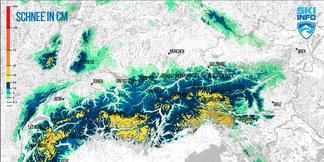 Schneebericht: Turbulente Wetterwoche bringt Neuschnee am Dienstag - ©[c] ZAMG / Skiinfo