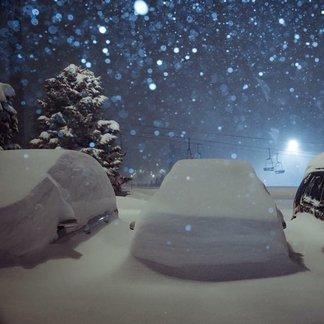 Snow is piling up in the French Alps Jan. 29-30, 2015