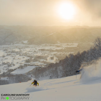 Powdertage in Japan: Caroline van 't Hoff und Julie Nieuwenhuys