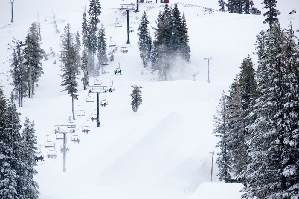 Old man winter has finally shown his face in the Tahoe region. Up until this weekend many resorts were relying solely on man-made snow. Photo by Sasha Coben