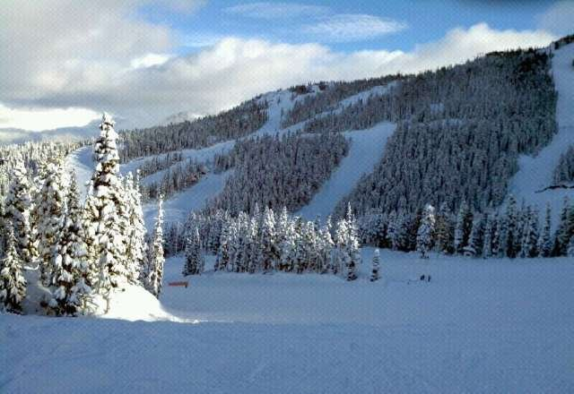 Sunny Sunday (on Blackcomb), at least for part of it!