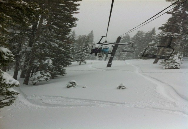 december 23rd. powder day. fresh tracks to be had by all. love homewoood!