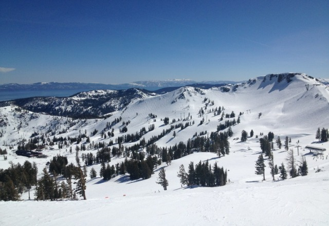 here was squaw today.  got a little slushy in the afternoon but you could still find decent runs.