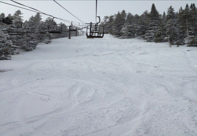 great pow on the challenge side of the mountain on 1/31/13. More great pow on IP too, but pretty windy on most of the trails leading to it.