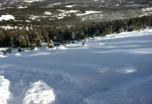 Good stuff today...all you gotta do is hike a little or alot & you can ski fresh all day!!
