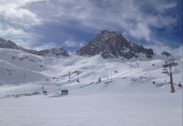 Tignes snowpark on Thursday.