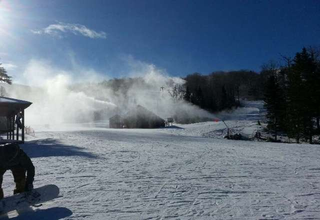 making crazy snow....conditions were great...check the ski and stay free deals at the lodge.