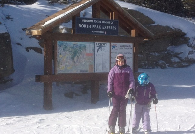 wonderful day at Loon. Not busy and good man made snow.