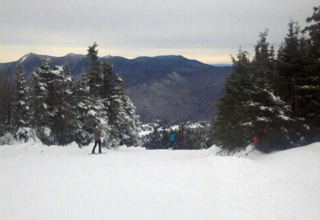 Long lines at the base, but sunnyside and northside were fine today, no wait. More snow on the way!