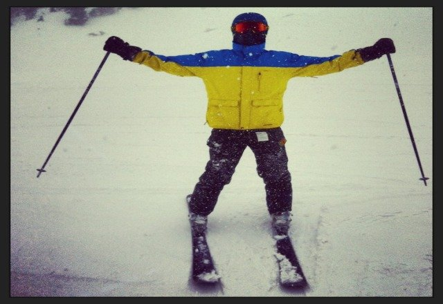 Taos is getting pounded! we had a great day!