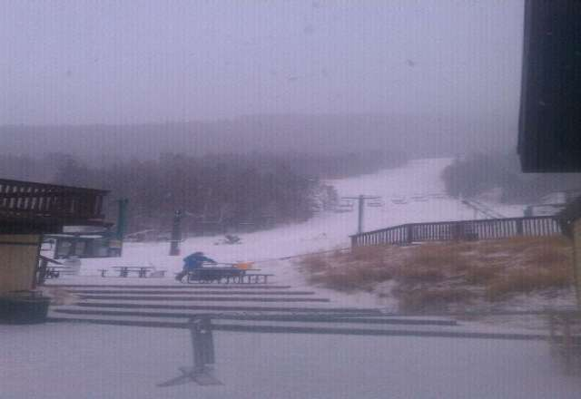 its going to be a good day just started snowing