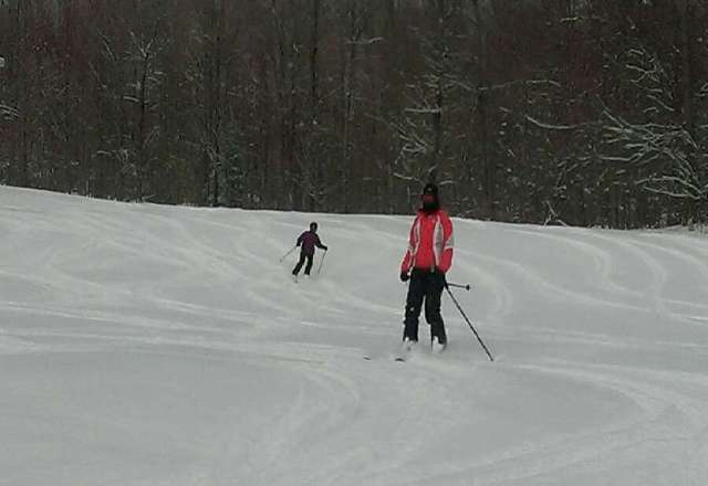 great skiing, fresh snow, not crowded