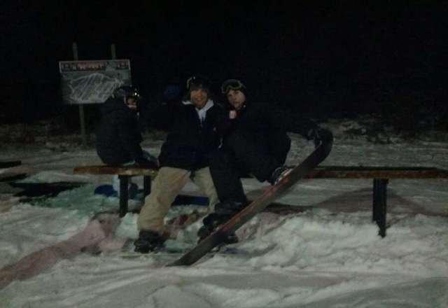good day snowboarding!! Great job big boulder