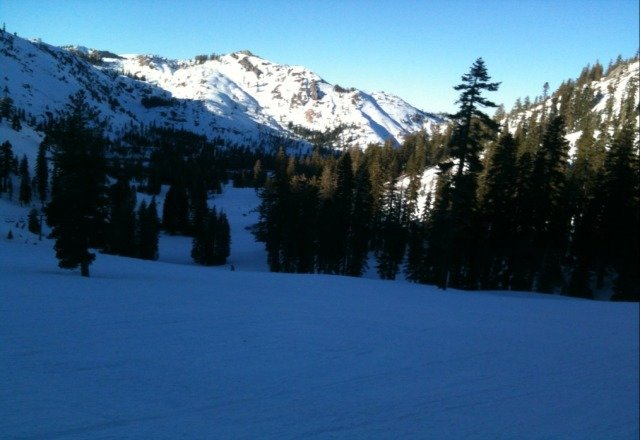 Great bluebird day, ran groomers all day!