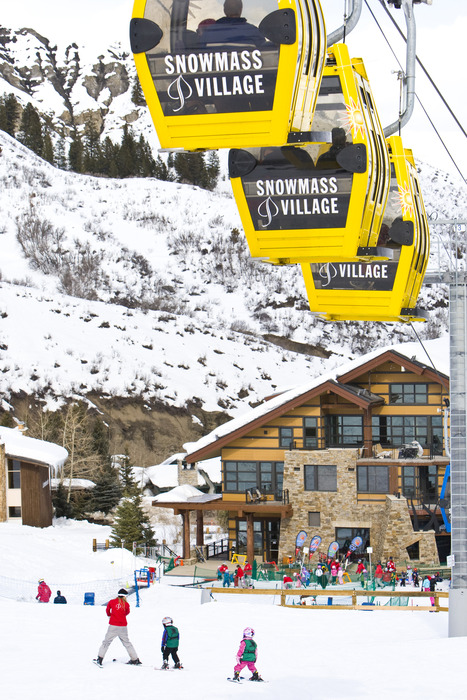 A gondola lift in Snowmass, Colorado