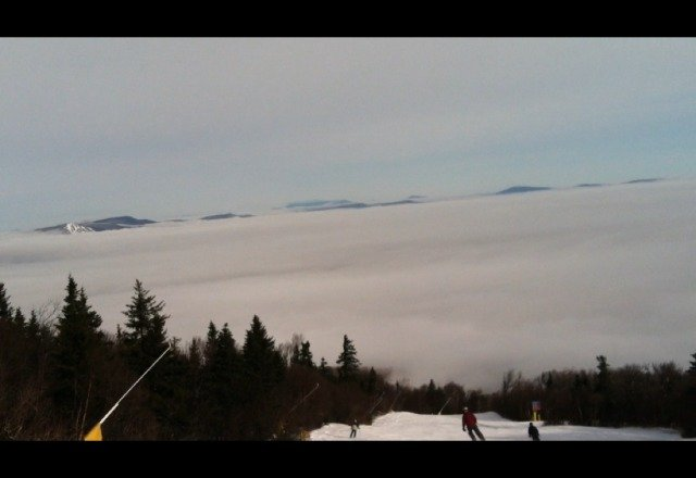 awesome day!! warm and some freshies! cool inversion.