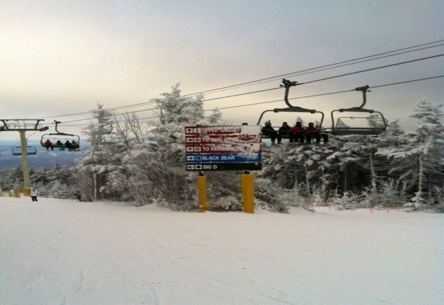 Fantastic day at Stratton! Plenty of snow with just a few slick patches.