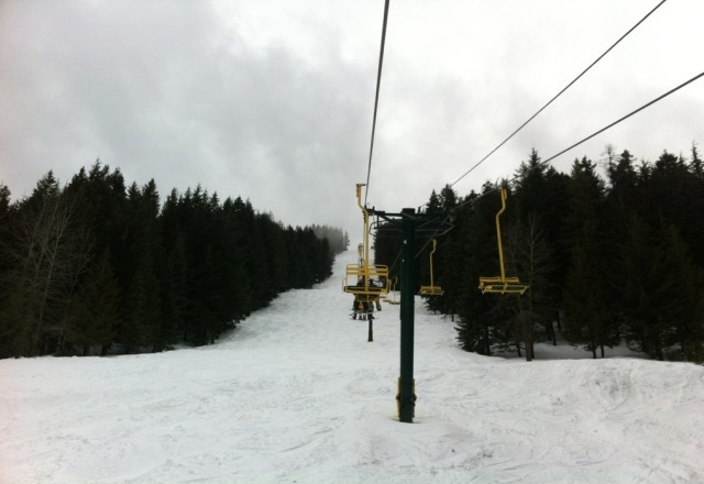 veiw from chair 4.  Really low vis and semi sticky, but overall alright