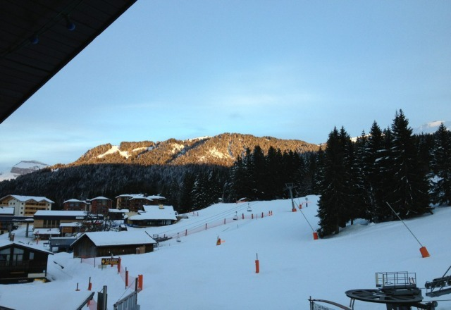 WOW an amazing sun set in Morillon. Excellent skiing conditions and lovely weather!! What more an you ask for!