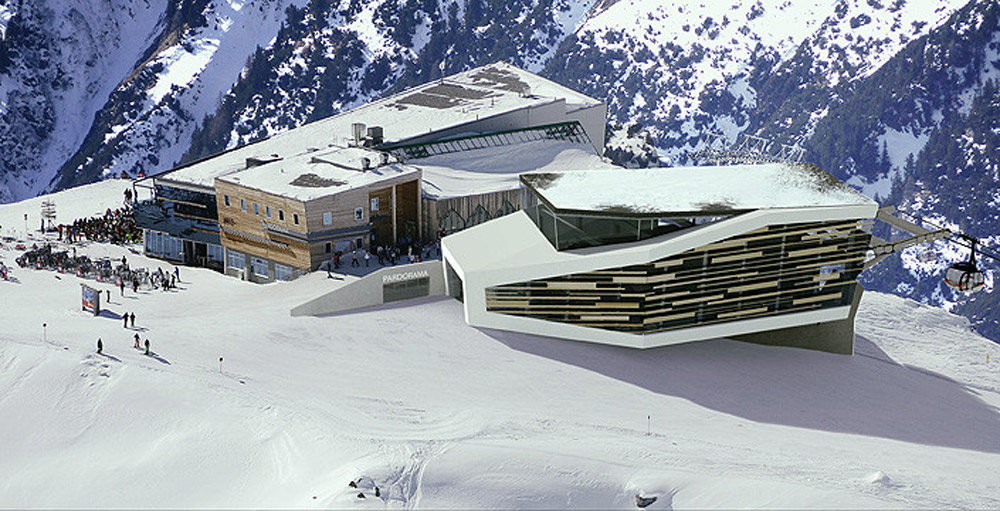 Top station for the new Pardatschgrat gondola lift in Ischgl, to be ready for the ski season 2013-14