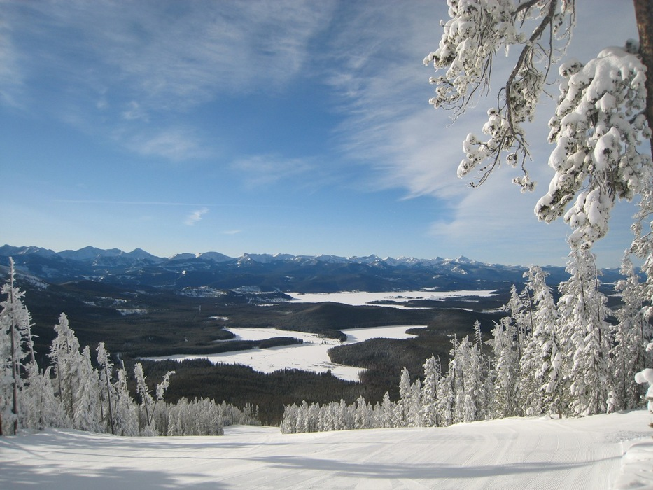 Fresh morning run at Discovery Ski Area, Montana. Photo courtesy of Discovery Ski Area.