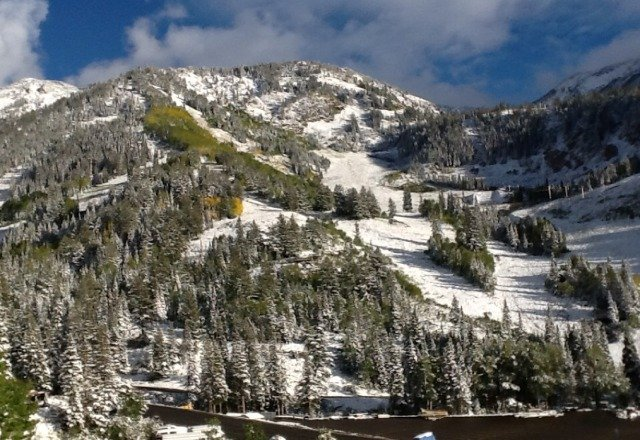 snowbird also got snow. Yeah baby. Warren Miller premier in 12 days and snow in Utah. I love Utah.