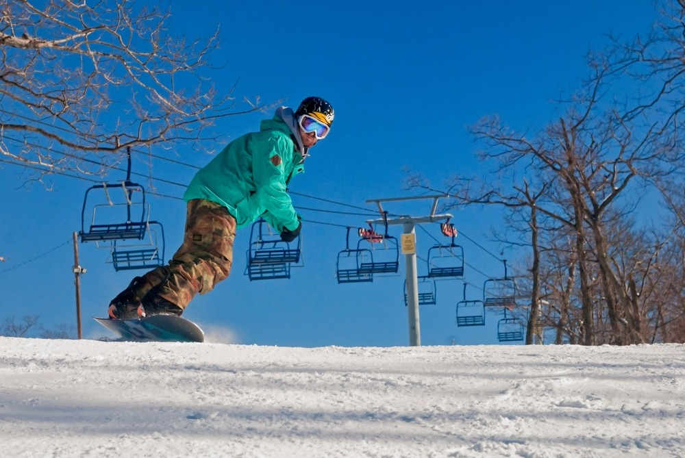 A snowboarder at Mountain Creek. Photo courtesy of Mountain Creek.