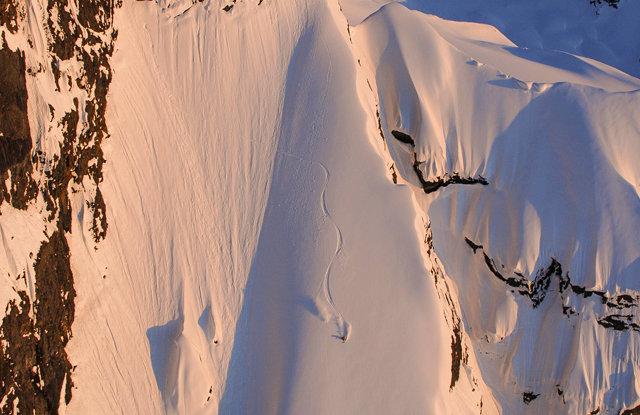 Dean Cummings' first descent Mount Francis near Valdez, AK, April 2012  - ©Eric Layton