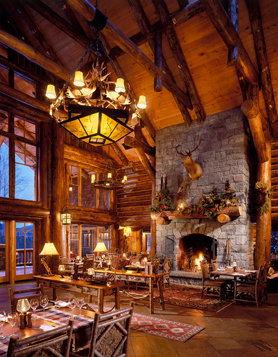 Chalet-style KANU restaurant at Whiteface Lodge.