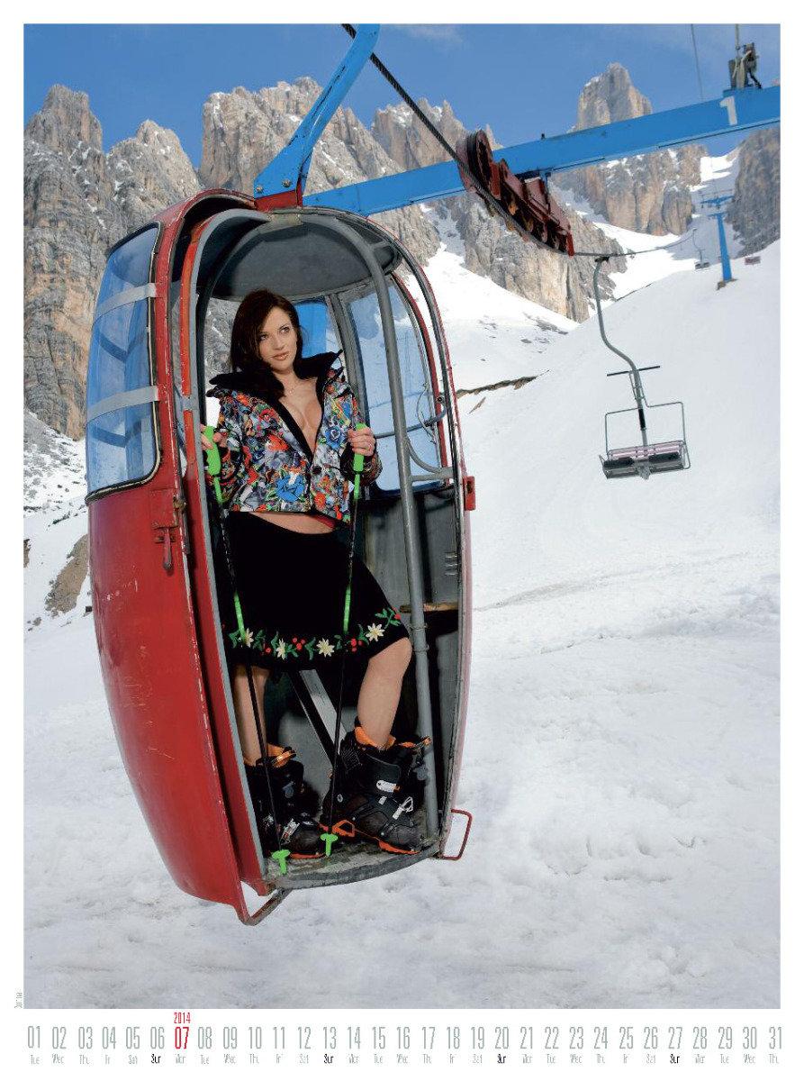 Ms July 2014 - Female Ski Instructor Calendar - ©Hubertus Hohenlohe/www.skiinstructors.at
