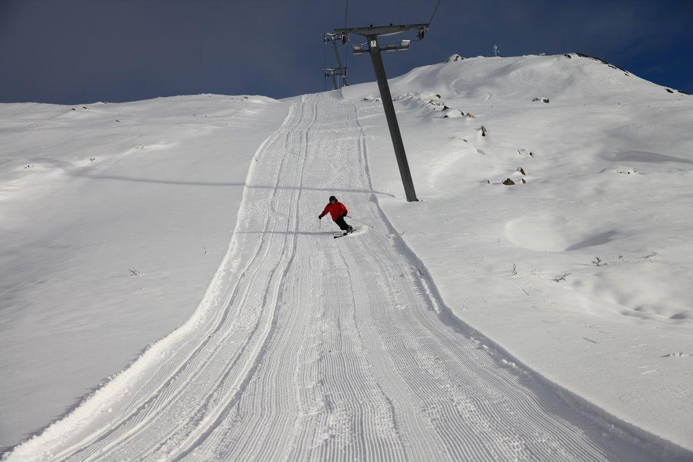 Powder in Haukeli Skisenter, Norway Nov. 7, 2013