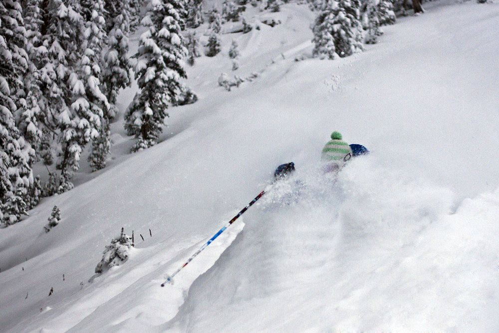 Powder skiing in the JH backcountry.