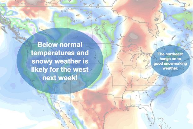 Weather & snow Thanksgiving week, 2013