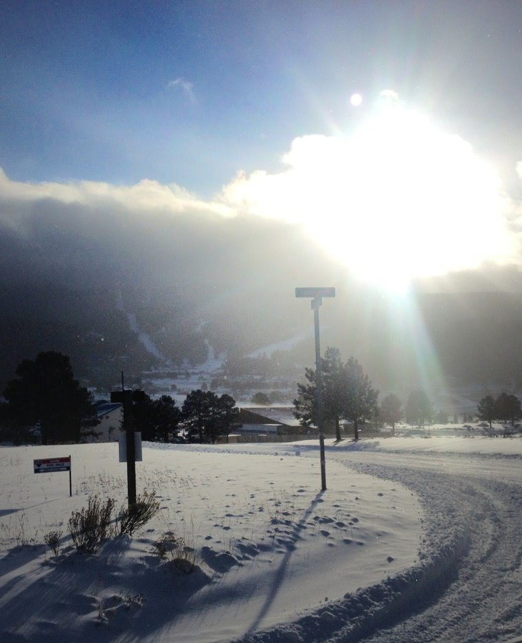 conditions are great!  lots of snow, looks like exhibition will be open for opening day.  back side is primed!!!  snowmakers are kicking butt.  this is of the mountain this morning 12/9 as the storm cleared.