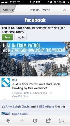 Back bowls opening this weekend. Probably just the sun up and down bowls, but more to come!