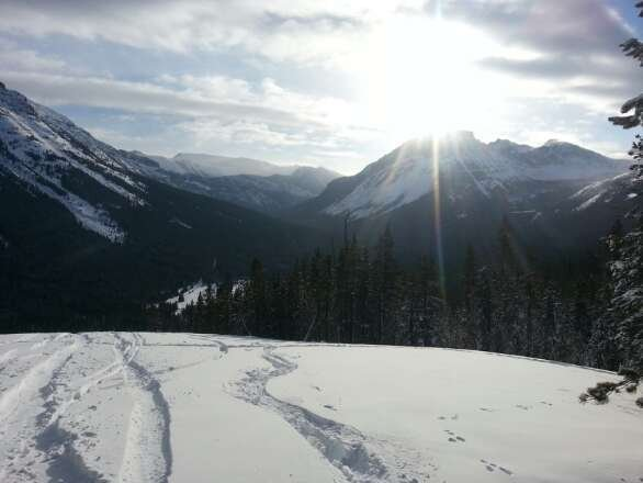 Ghost Rider glades on Sunday of Sneak a Peak. Powder was deep, slow and heavy