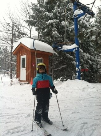 First time on a T-Bar . 3 feet of new snow . Thank you BSC
