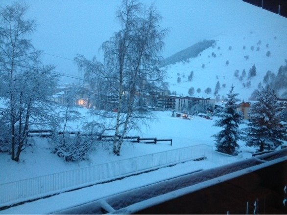 Lots of snow over the last 24hrs. Slopes gone from green and brown to powder. Hopefully the sun is out tomorrow!