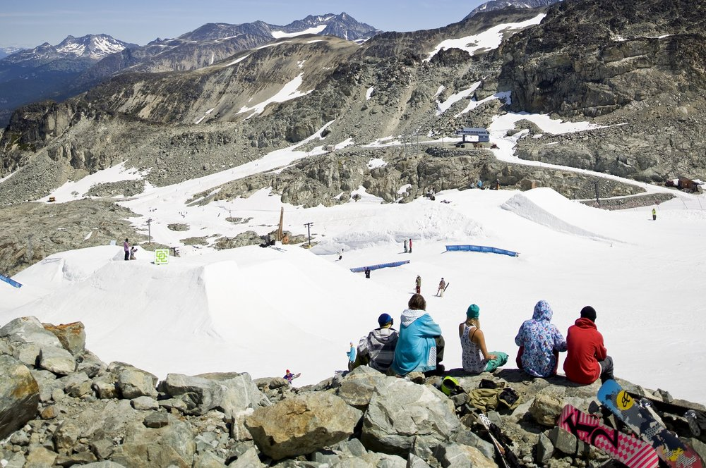 Summer skiing on Horstman Glacier - ©Dano Pendygrasse/Whistler Blackcomb