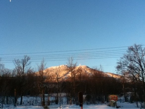 Morning picture of the hill when sun is coming up