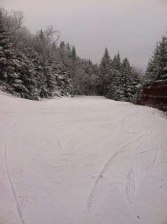 Trails that are open are nice, average crowds, overall good time. Hope for fresh pow pow tomorrow!