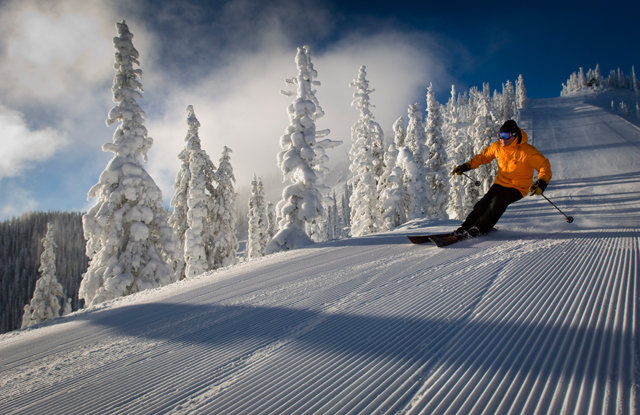 The groomers are grand at Red Mountain.