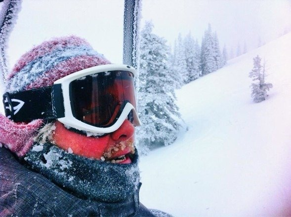 A little bit of powder and terrible visibility but still a fun day.