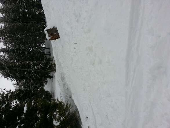 awesome snow today really good powder if you know where to look